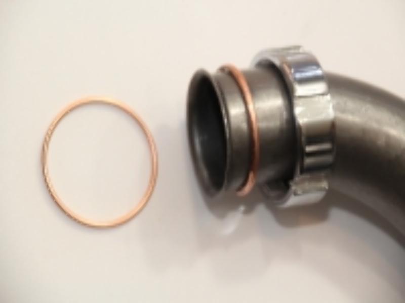 2x (1Paar) Krümmer - Dichtung Kupfer, Kupferring f DKW 500 NZ, SB, DKW-Rad 50 mm,neu, Ersatzteil-Nr. 7762