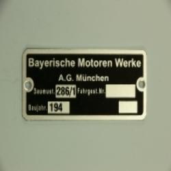 Typenschild BMW