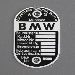 Typenschild BMW Baujahr: 19(...)