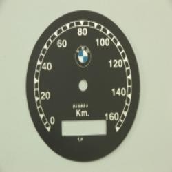 Zifferblatt für Tachometer BMW R71 - bis 160km