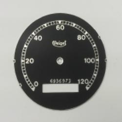 Zifferblatt für Tachometer Veigel BMW - bis 120km, Ver. 2