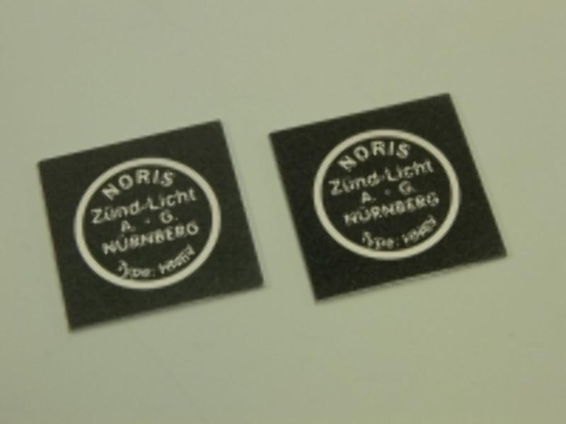 Typenschild für Noris Hupe HN6V