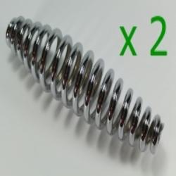 2x Feder für Federgabel - Druckfeder - Federgabelfeder Zündapp KS600 verchromt