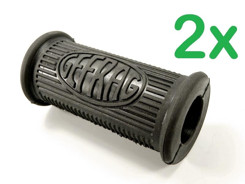(1 Paar) Fußrastengummi Soziusseite für Zündapp KS 750 SAHARA / GEFRAG 25mm