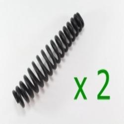 2x Feder für Federgabel - Druckfeder - Federgabelfeder NSU 601 OSL schwarz verzinkt