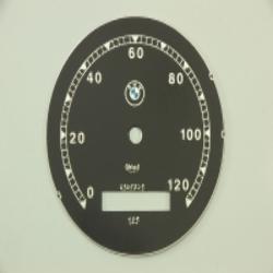 Zifferblatt für Tachometer Veigel BMW - bis 120km,  Ver. 1