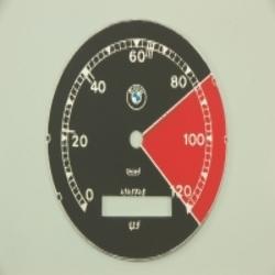 Zifferblatt für Tachometer BMW R12, R75 WH bis 120km