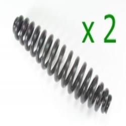 2x Feder für Federgabel - Druckfeder - Federgabelfeder Zündapp KS600 schwarz verzinkt Glanz