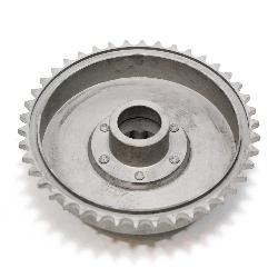 Bremstrommel mit Kettenrad passend für Hinterrad-Nabe IZ49, ISH 49, Replik