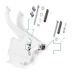 Schrauben Satz für Sattelblock / Fahrersitz  für DKW NZ 350,350-1, IZ49 Motorräder VER.II