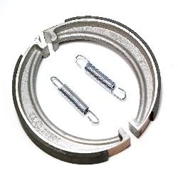 Bremsbacken Satz VORNE / HINTEN mit Feder für ZÜNDAPP KS600, K500, K800 Nachbau