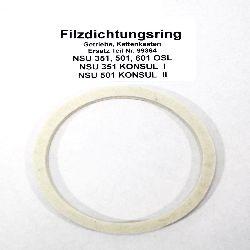 Filzring 115x100x10 für Kettenantrieb NSU OSL 351, 501, 601, KONSUL, Motorräder ErsatzTeil Nr 99364