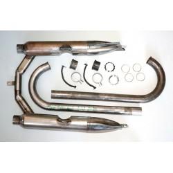 Auspuffanlage / Auspuff für DKW 500 NZ Motorrad, Rohzustand, Komplettsatz, NEU
