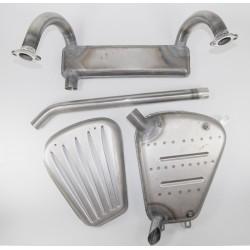 Auspuffanlage / Auspuff für Zündapp KS 750 ,mit Schutzgitter, neu 4-teilig