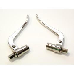 Bremshebel u. Kupplungshebel - Innenzughebel für alte DKW Motorräder vernickelt 21 mm