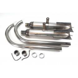 Auspuffanlage für DKW 200, 250, NZ, SB, KM, LUXUS, Motorräder Ver. 585/80 mm, Rohzustand