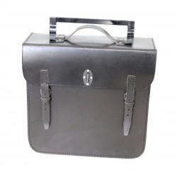 Packtasche aus Leder schwarz für DKW BMW, ZÜNDAPP, NSU OSL, WH 2 WK Wehrmachtsgespann